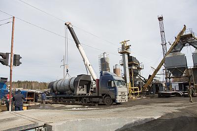 На муниципальный асфальтовый завод поступило новое оборудование